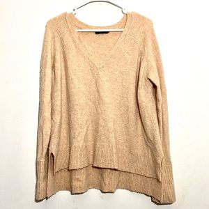 J. Crew Wool & Alpaca Side Split V-neck Sweater